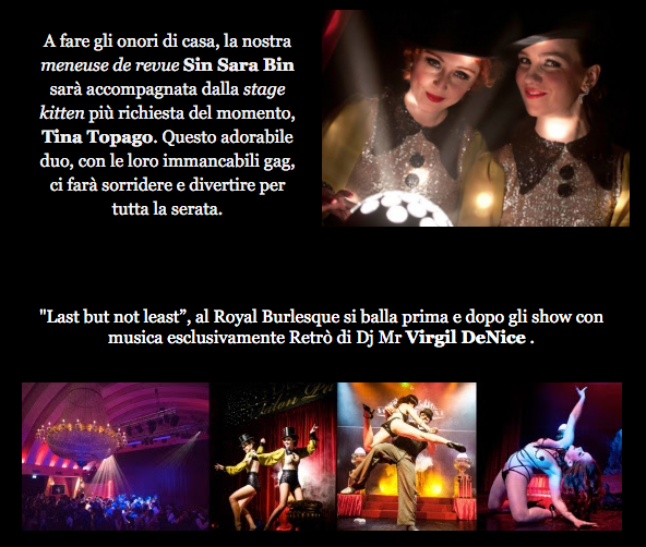 Royal Burlesque Revue - Sin Sara Bin - Sara Topago