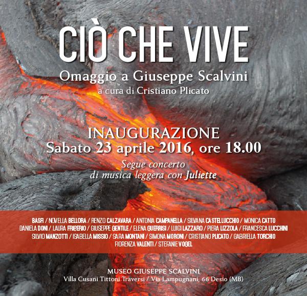 """Locandina mostra """"CIO' CHE VIVE"""" di Monica Catto"""