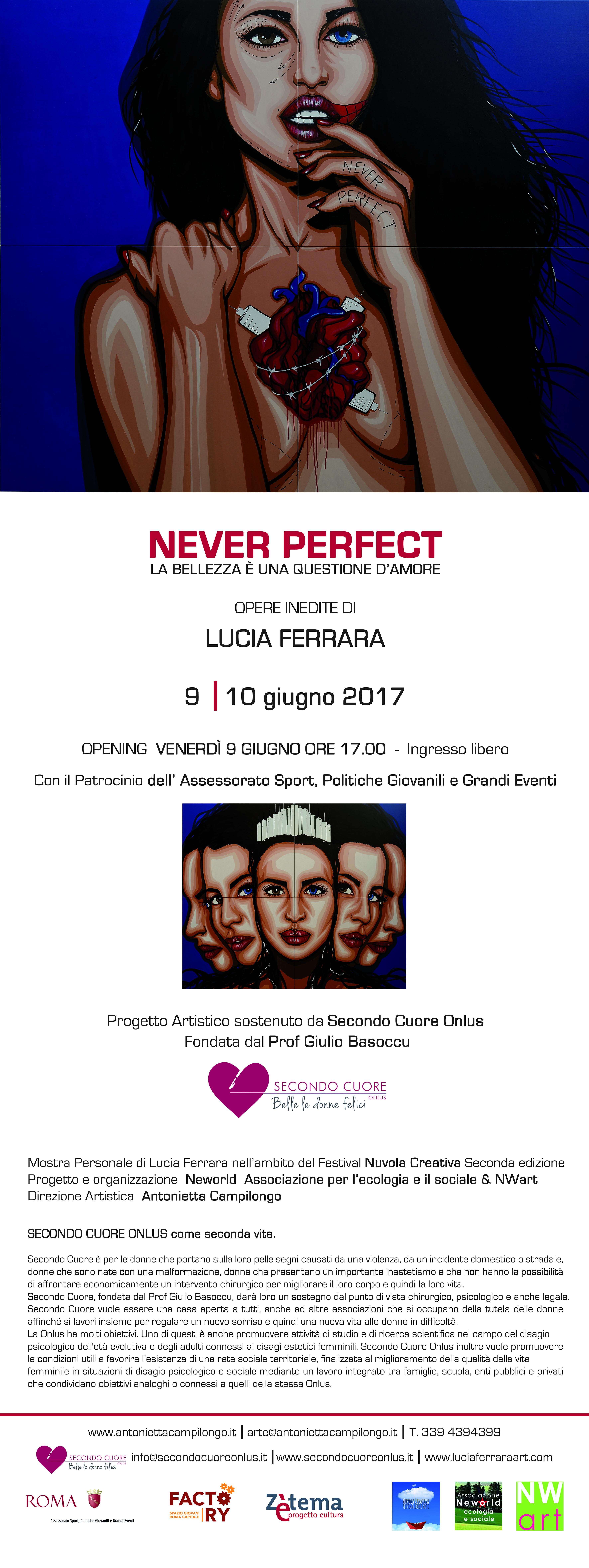 NEVER PERFECT La Bellezza è una questione d'Amore Lucia Ferrara