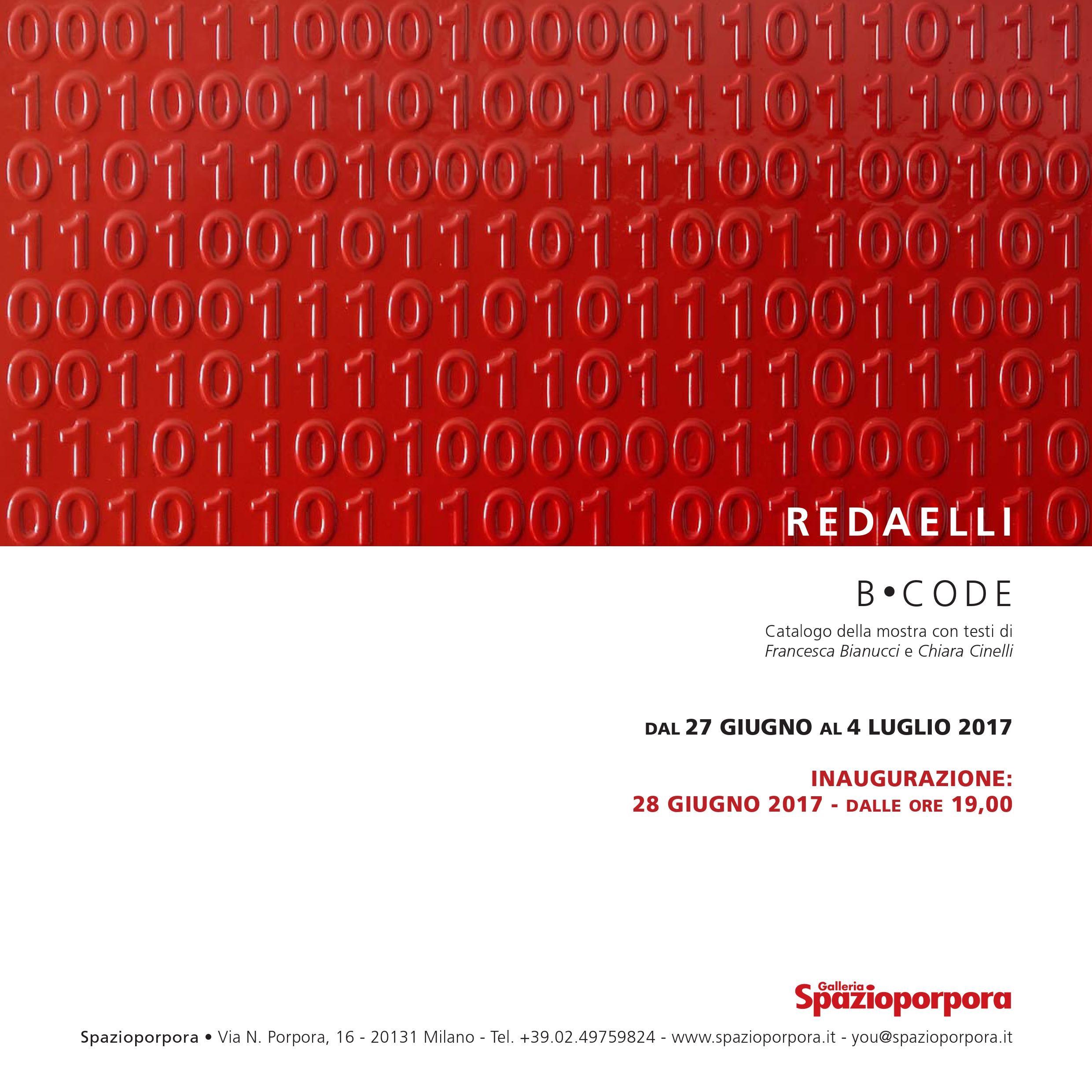 B.CODE mostra personale di Giordano Redaelli Spazioporpora
