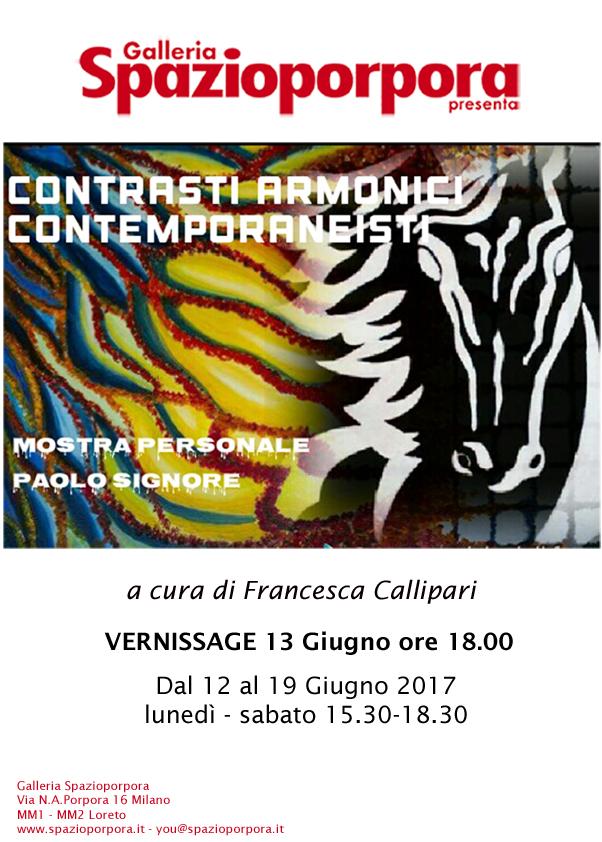 Paolo Signore - Contrasti armonici contemporaneisti 12/19 Giugno